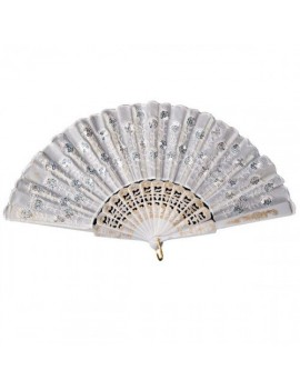 Spanish Lace Fan White Carnival Toys CA-08567
