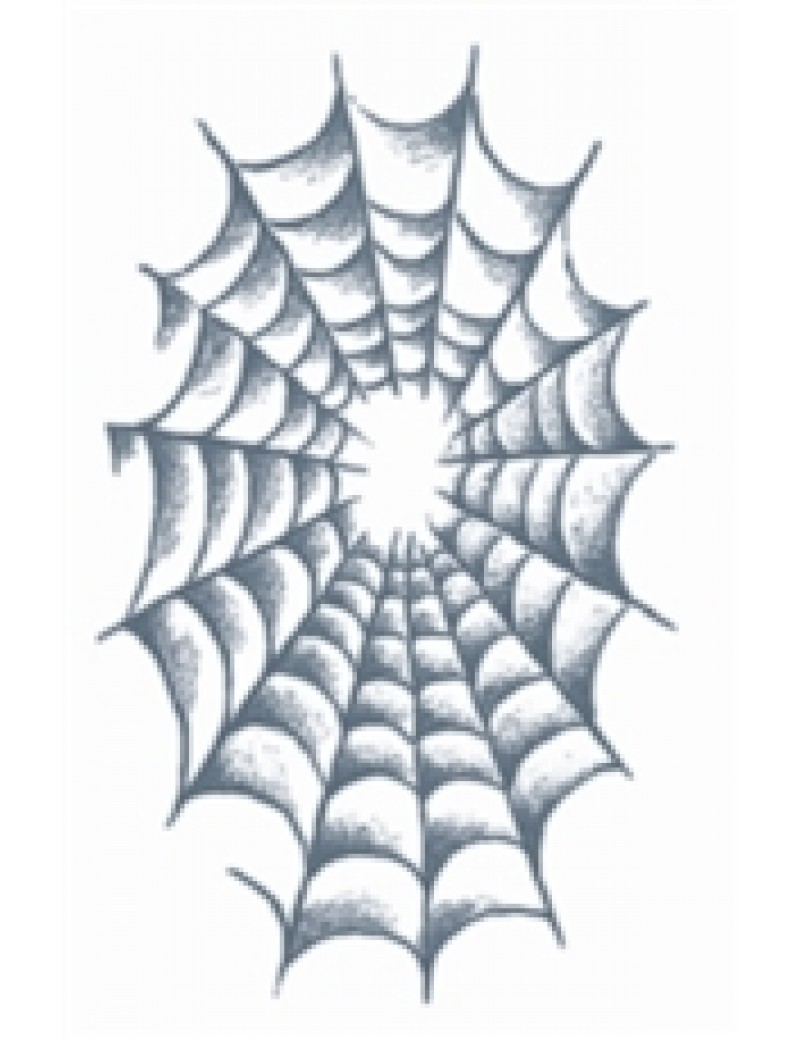 Prison spider web temporary tattoo Tinsley Transfers PR-309