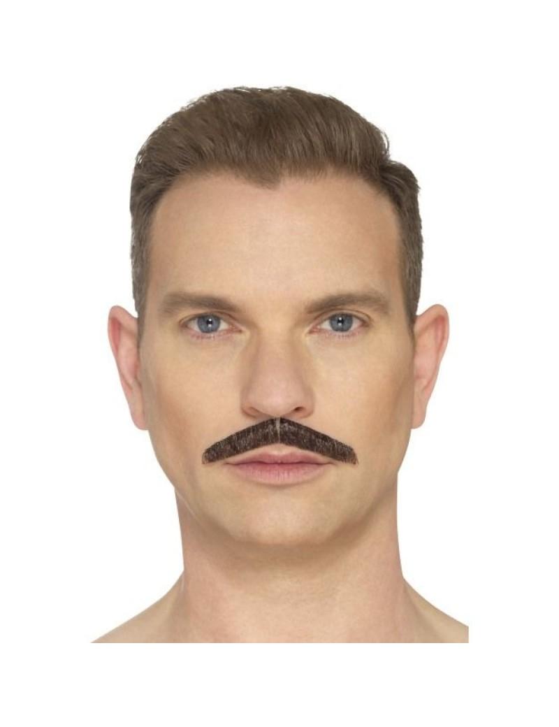 Pencil moustache brown Smiffys 49643