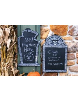 Spooky tombstone chalk message board Palmer Agencies 6174