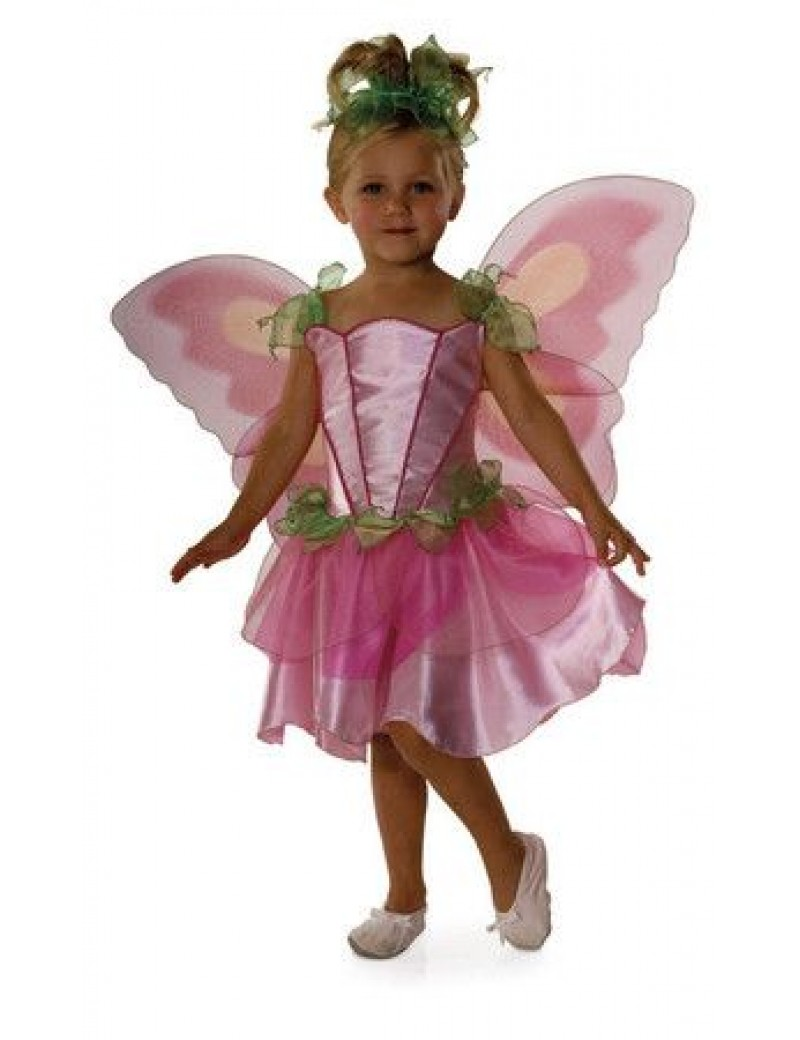 Springtime pink fairy girls fancy dress party costume Rubies 882730