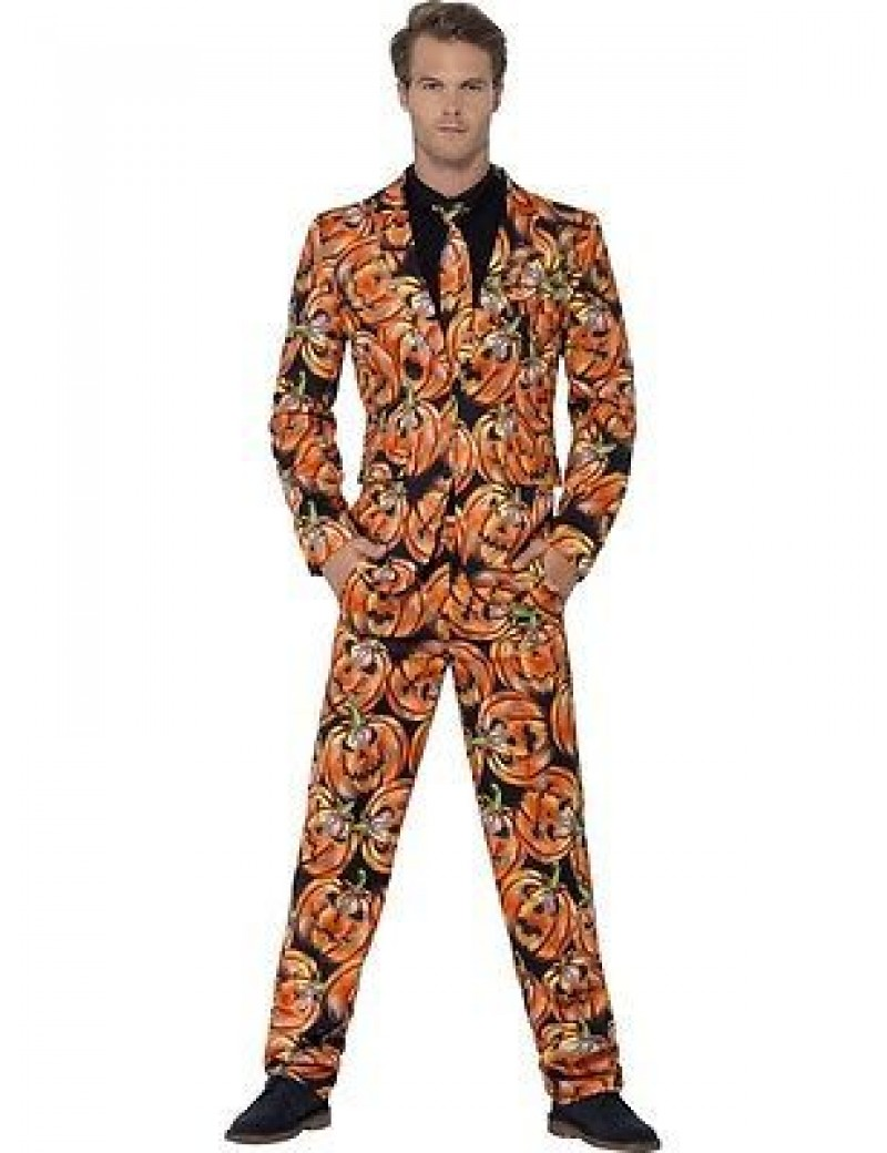Pumpkin Stand Out Halloween Adult Suit Smiffys 44437