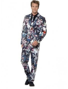 Zombie Stand Out 3 Piece Adult Costume Suit