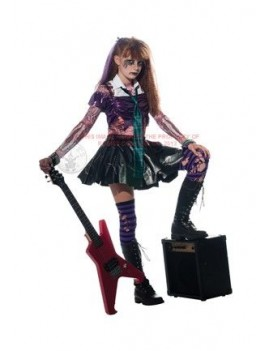 Zombie punk rocker girls costume Rubies 881386