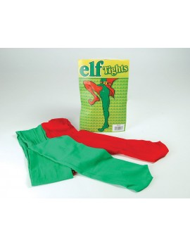Tights Elf green red ladies mens fancy dress costume  party Christmas accessory Bristol Novelty BA043