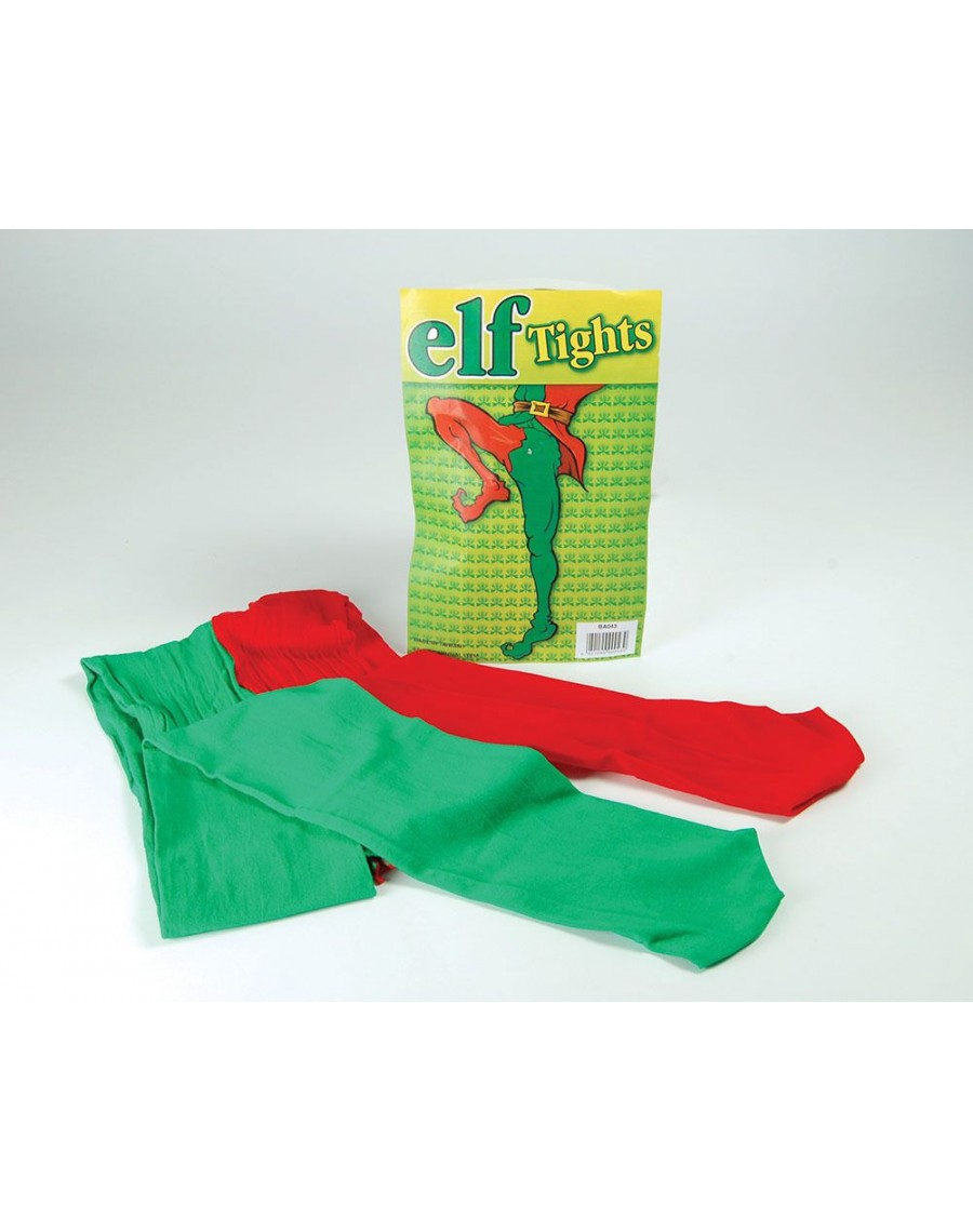 Tights Elf green red ladies mens fancy dress costume party Christmas  accessory Bristol Novelty BA043 9c51cc44f3d