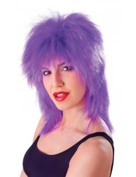 Tina purple and tinsel wig Bristol Novelty BW322