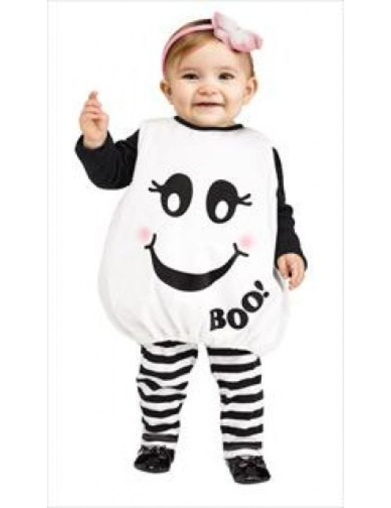 Toddler baby boo ghost boys girls fancy dress party halloween costume Palmer Agencies 3535A