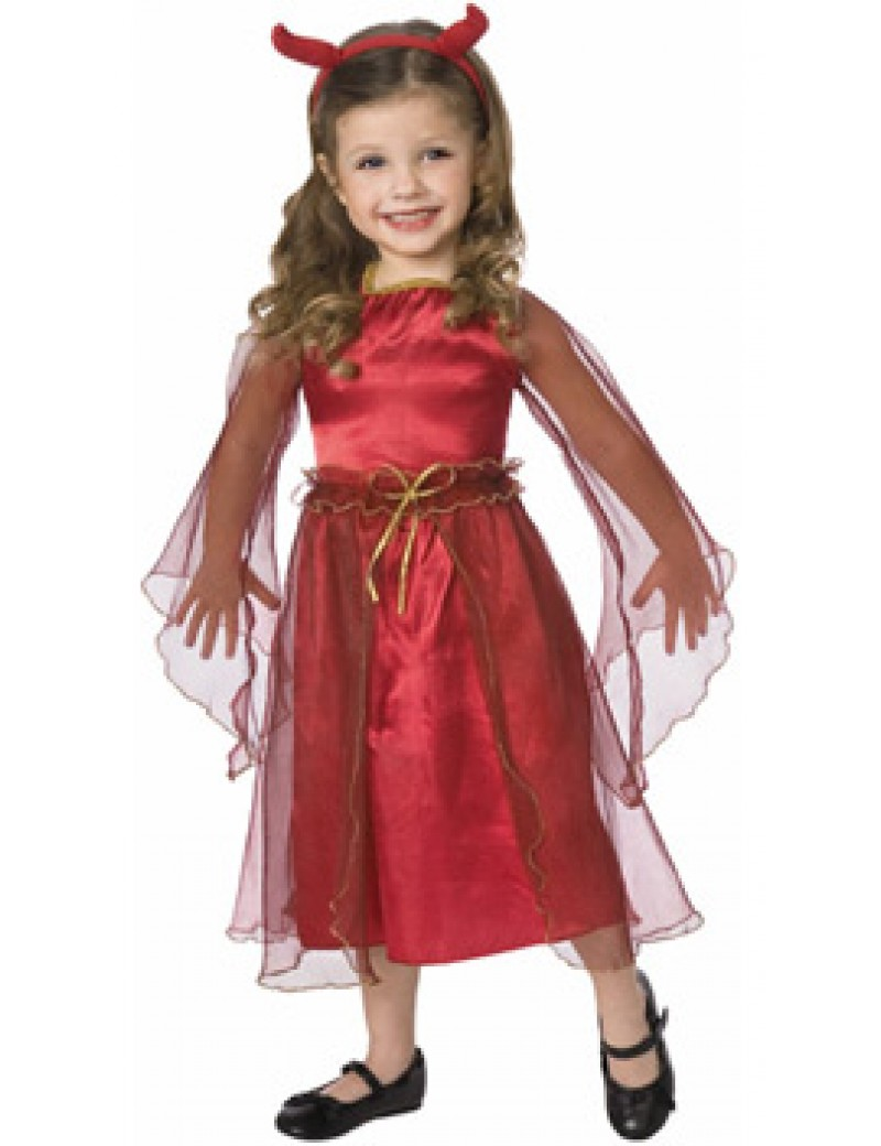 Toddler devil girls halloween costume Living Fictions Studios 3549