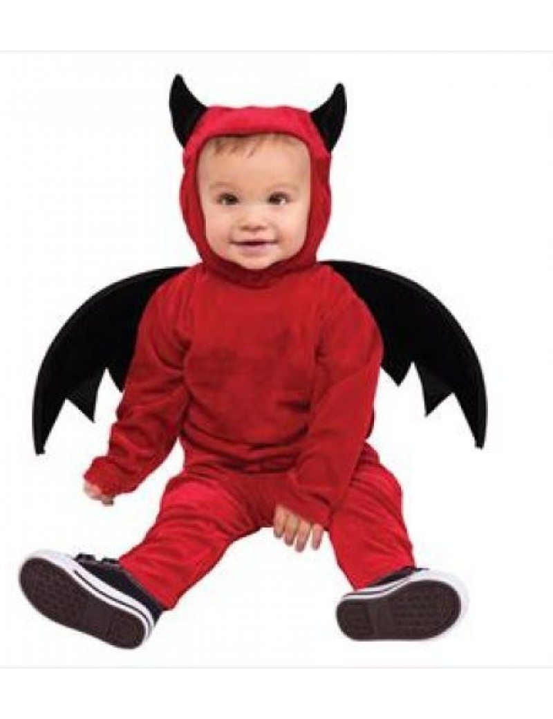 Toddler lil devil boys girls fancy dress party halloween party costume Palmer Agencies 3536DL