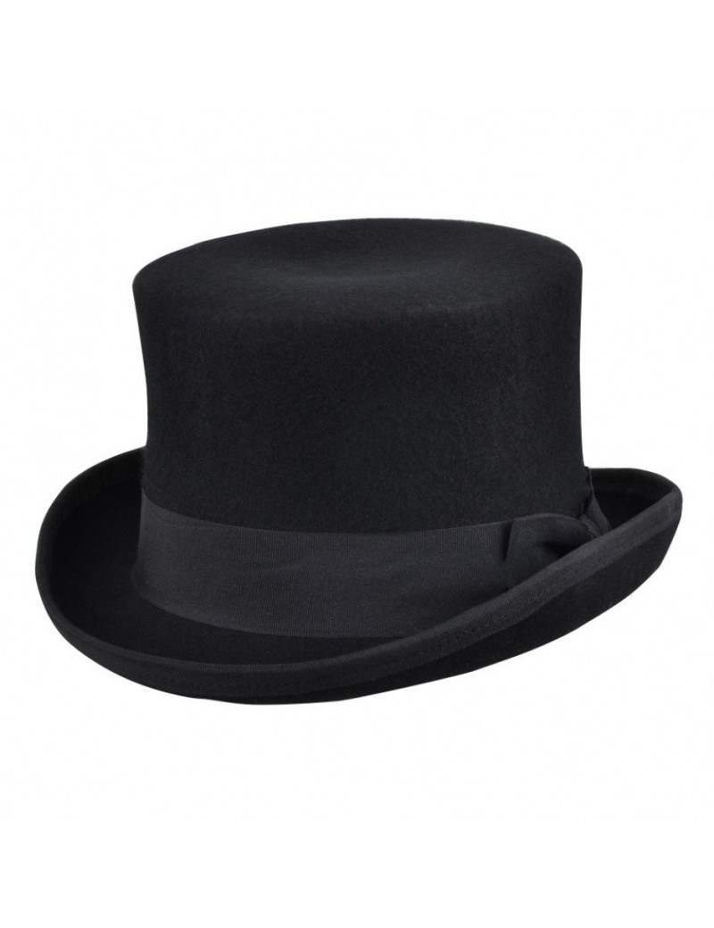 Top Hat 100% wool topper Crushable Mens premium quality  Headwear CTH312BLK