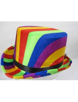 Gay Pride Rainbow Top Hat 61cm Creative Collection H7781