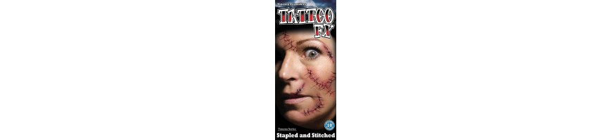 Trauma wound FX tattoos