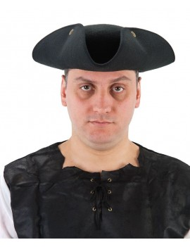 Tricorn pirate highwayman Poldark Venetian Masked Ball felt hat black Palmer Agencies 5738