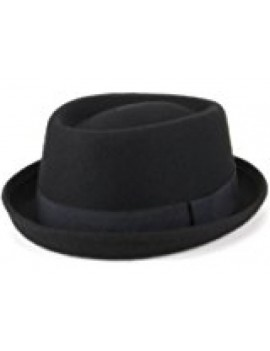 Trilby Breaking Bad pork pie style Black mens deluxe Woolfelt  Run DMC Walter White  hat 63885