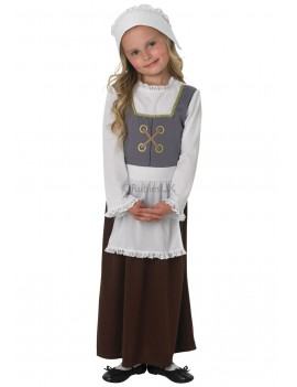 Tudor Peasant Girl Child Costume Rubies 888323
