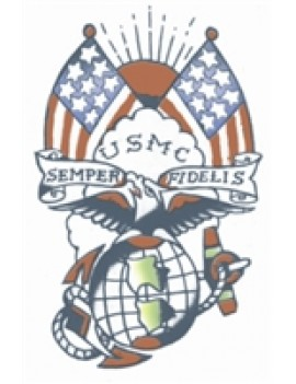 Military USMC semper Fi temporary tattoo Tinsley Transfers