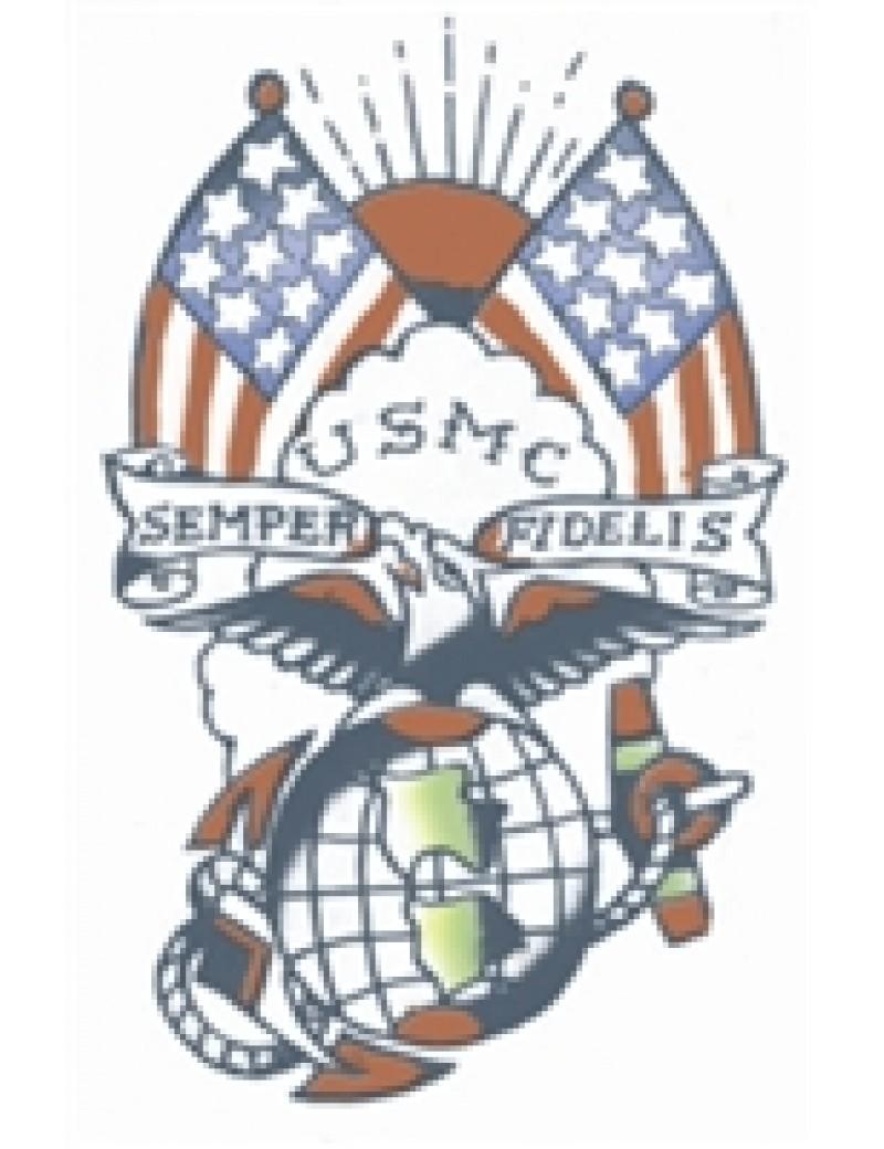 Military USMC semper Fi temporary tattoo Tinsley Transfers