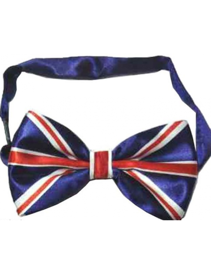 Union Jack flag bow tie mens formal masquerade ball  menswear British accessory 63939