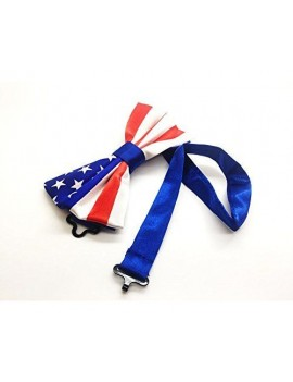 American Stars And Stripes Flag Bow Tie