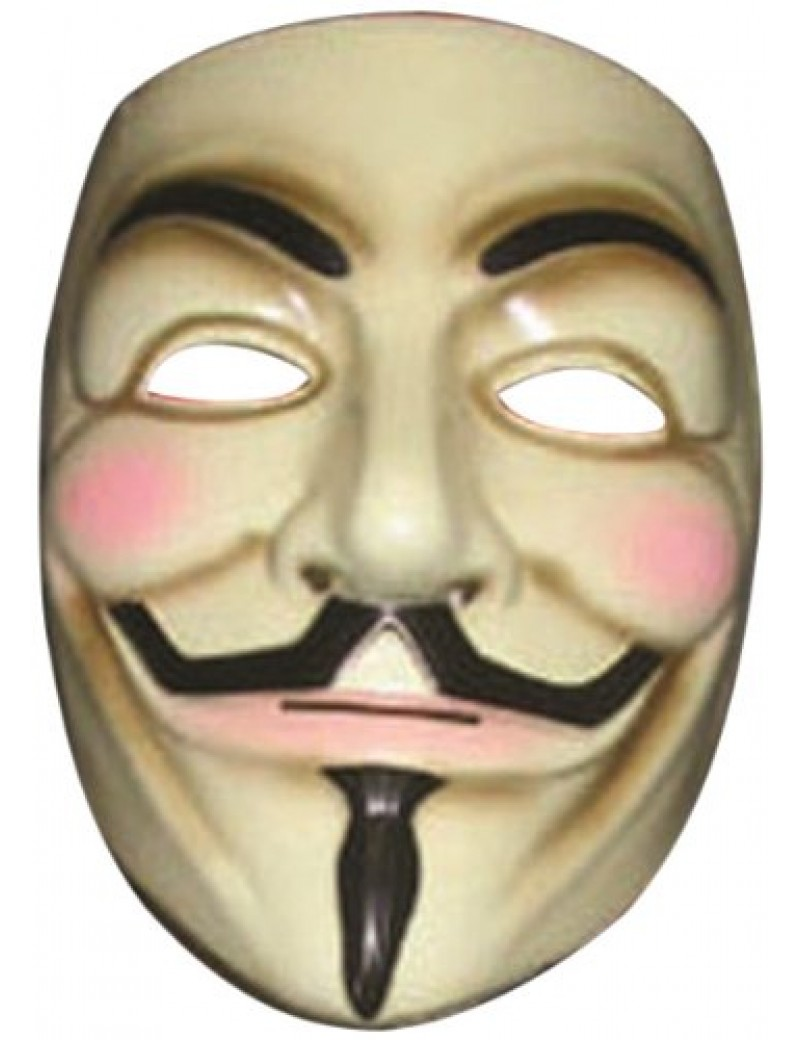 V for Vendetta Guy Fawkes Anonymous plastic fancy dress Halloween costume tv film party official character mask Rubies 4418