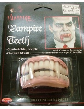 Vampire rubber teeth fangs Palmer Agencies MD044