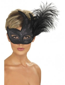 Colombina Eye Mask Black Smiffys 40024