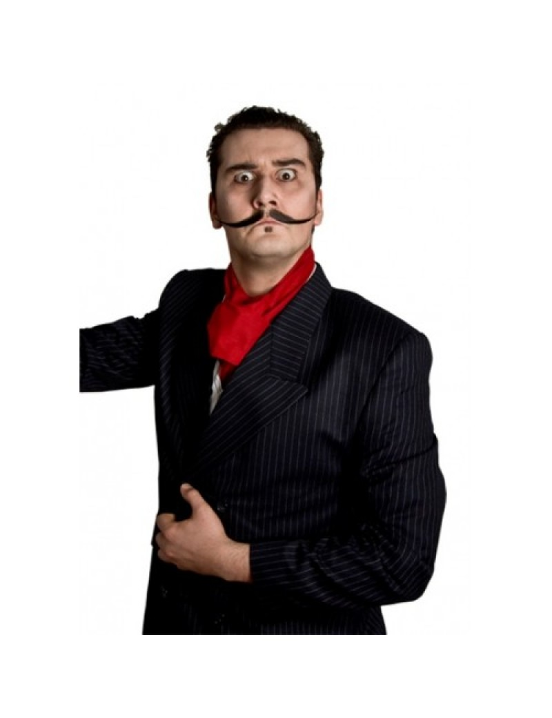 Victorian villian Cavalier ringmaster theatrical stage professional style real hair moustache Metamorph