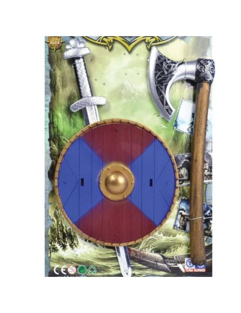 viking axe shield sword fancy dress prop weapon kids adults costume set Bristol Novelty BA404