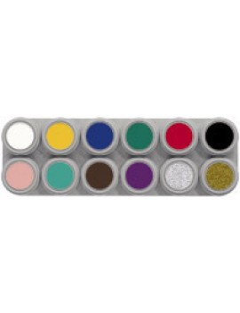 Grimas 12 Colour Water Palette A Pure