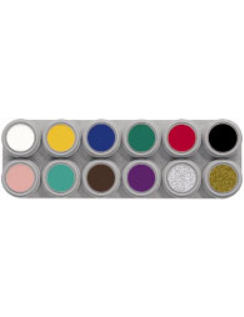 12 Colour Water Make Up Palette A
