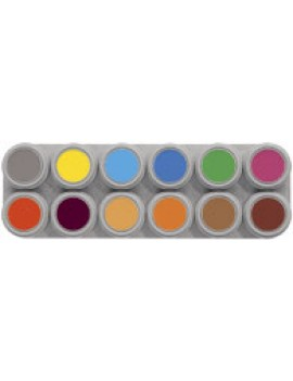 Grimas 12 Colour Water Palette B Pure