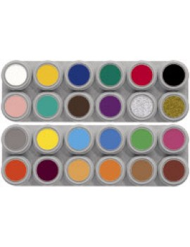 Grimas 24 Colour Water Palette Pure