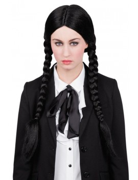 Wendy Black Halloween plaited costume wig Palmers Boland 5346