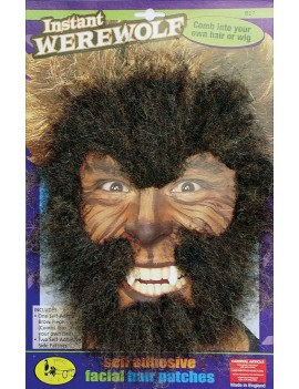 Werewolf beast animal Teen Wolf 80s facial hair brown  instant accessory Palmer Agencies 5224