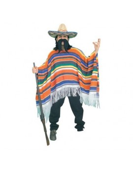 Mexican Striped Poncho