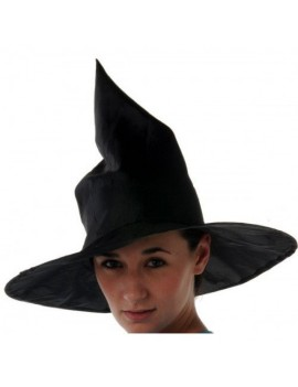 Witch hat plain black large nylon Halloween Book Day accessory Creative H7629
