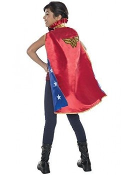 Wonder Woman deluxe cape girls fancy dress Superhero costume party accessory Rubies 36096