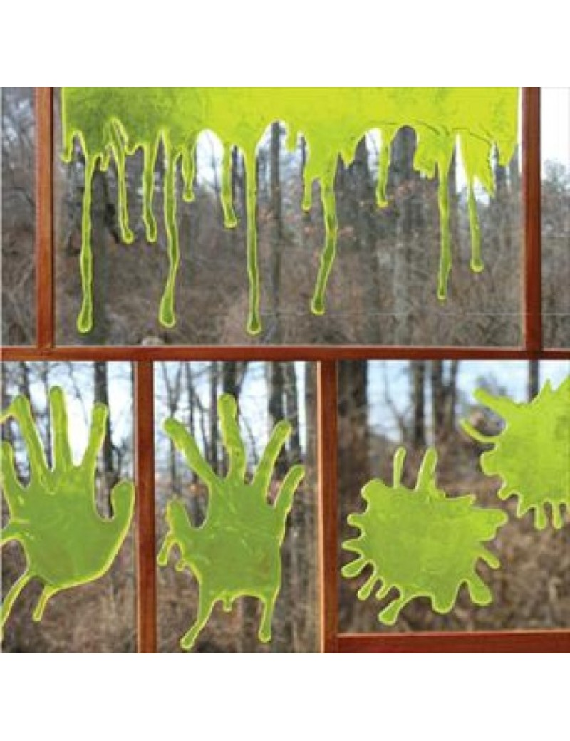 Zombie blood 3D green window decoration gels Palmer Agencies 5890A