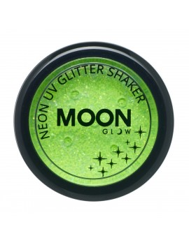 Moon Glow neon UV glitter shakers green M90
