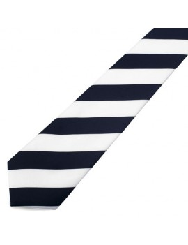Black And White Striped Tie